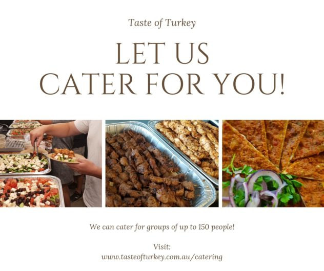 LET US CATER FOR YOU!